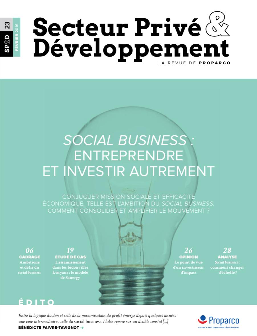 Social Business Entreprendre Et Investir Autrement Cerise